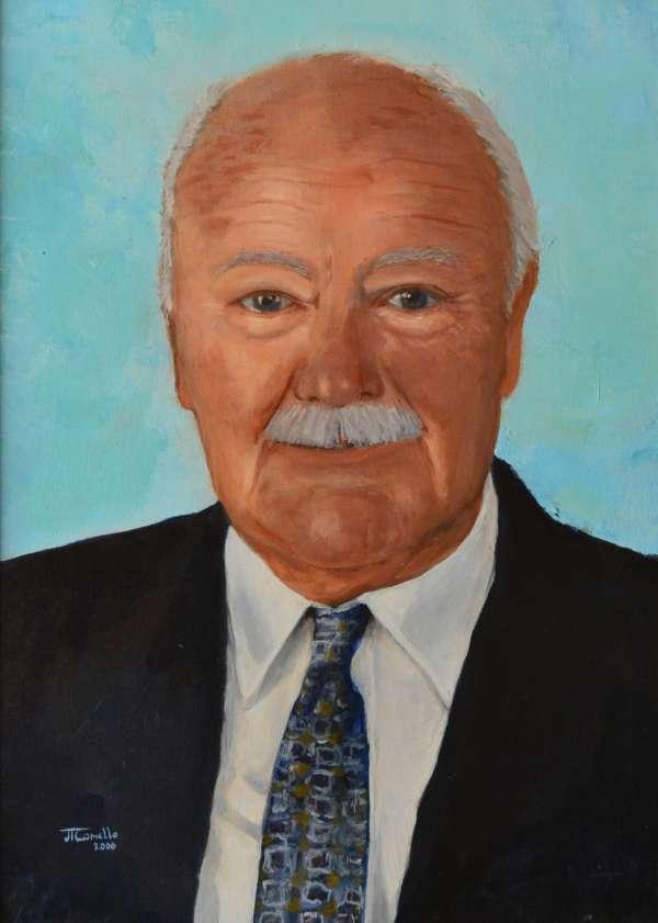 2000, Daan Heeneman, 30x40, olieverf, portret J. Comello