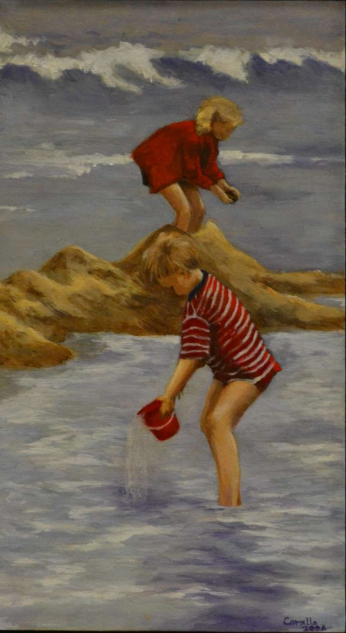 2006, Two for the sea, olieverf, J.Comello