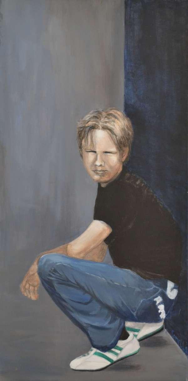2010, Caspar, 50x100, acrylverf, J. Comello