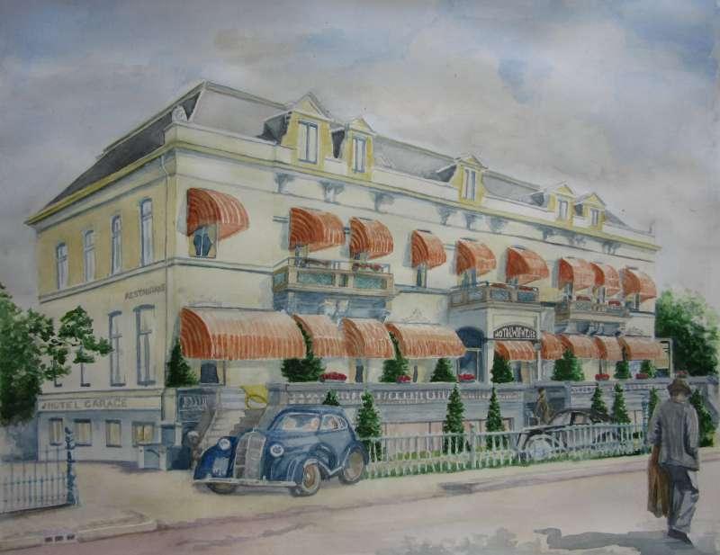 Aquarel Hotel Wientjes, 2012, 40x50