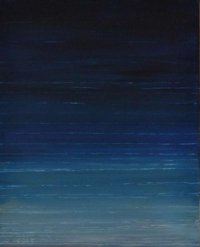2013, Blue Sea, 40x50, acrylverf J.Comello