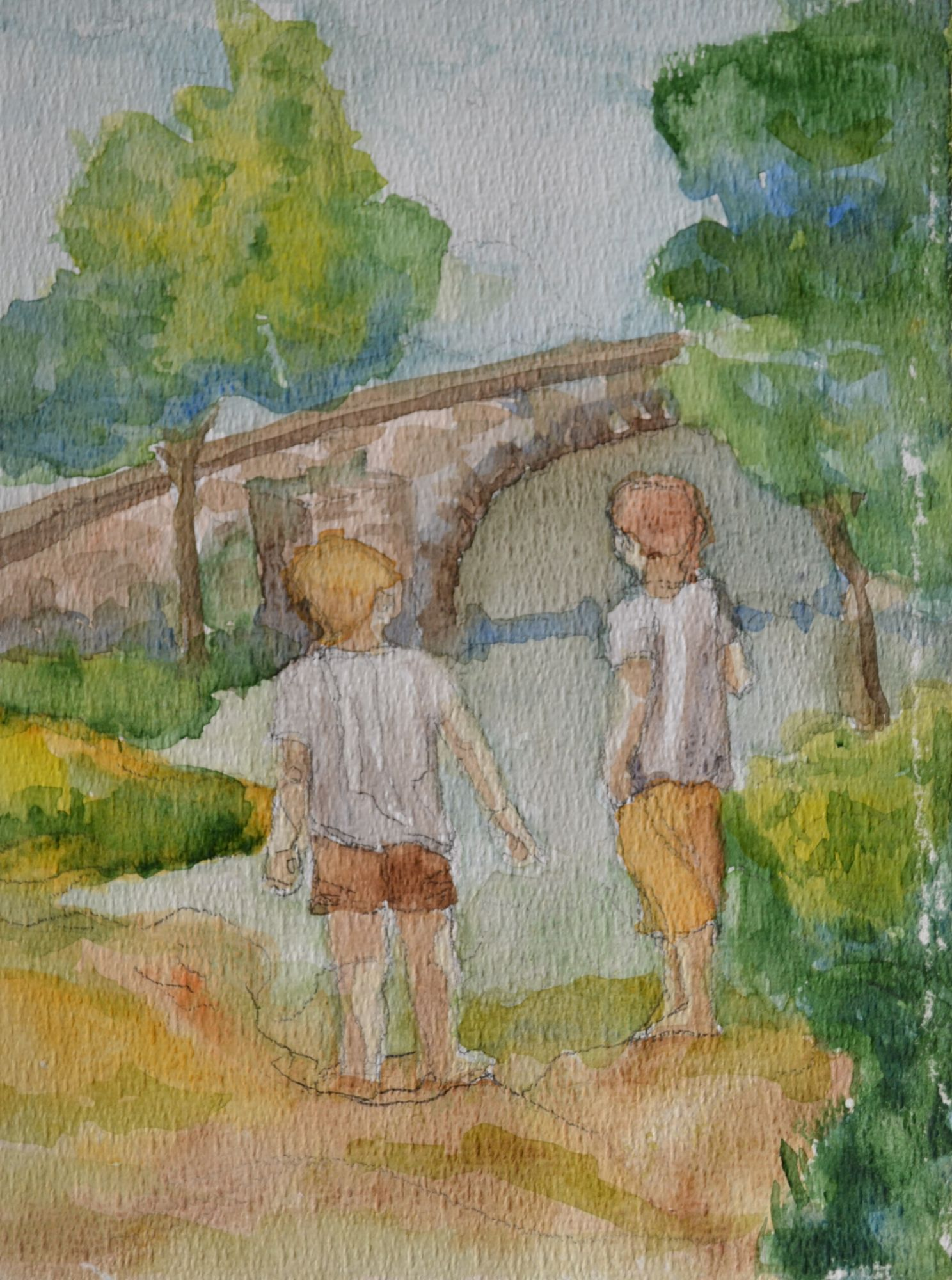 2013 Kids bij oude brug