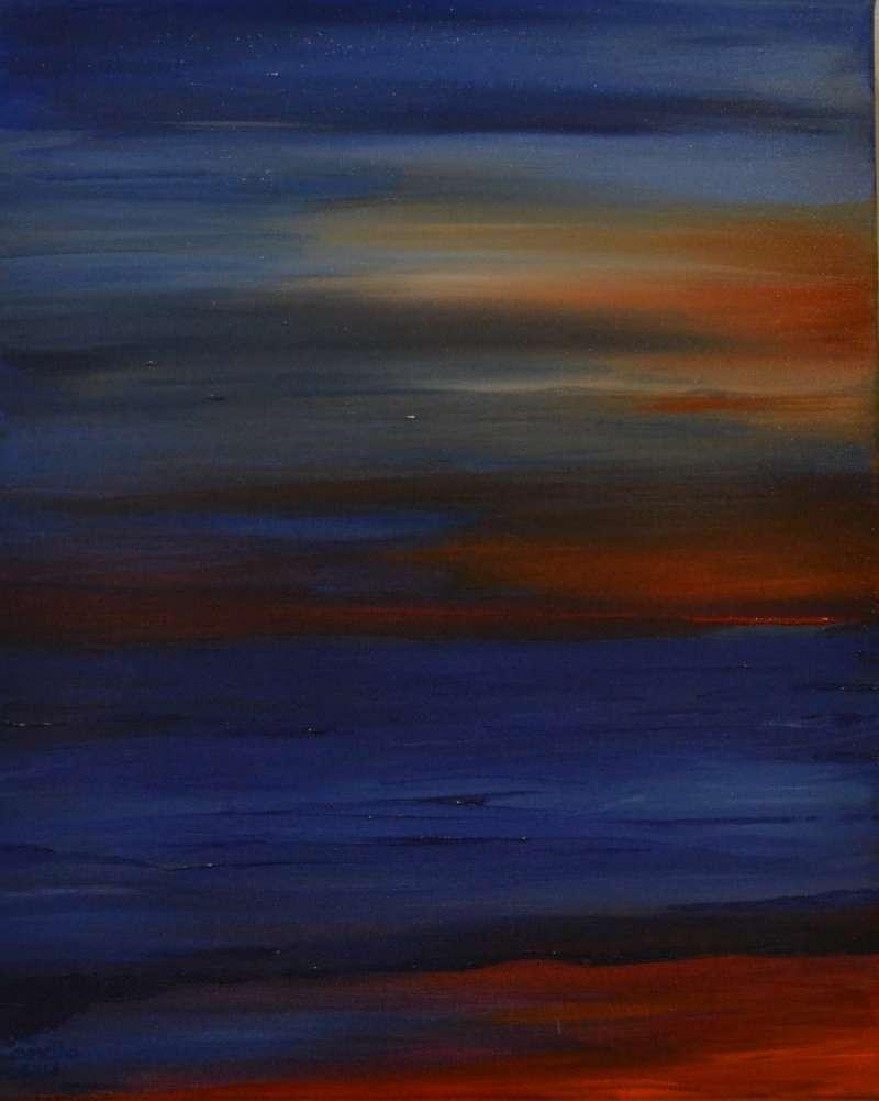 2013, Red blue Sea, 40x50, acrylverf J.Comello