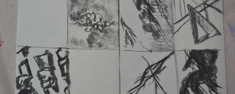 schetsen voor abstracte werken