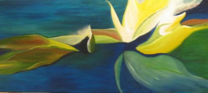 2006, Waterlicht, olieverf op linnen, 120x50 Jacqueline Comello