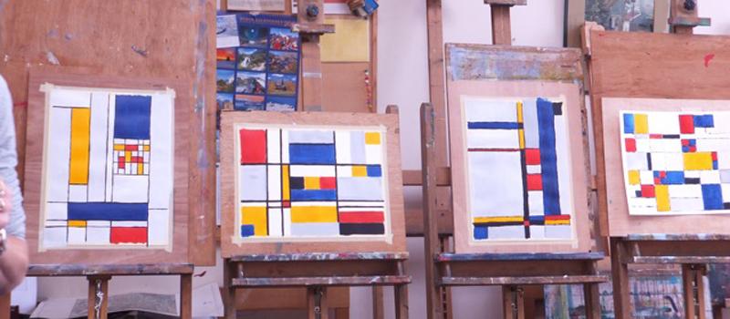 workshop Abstraheren a la Mondriaan