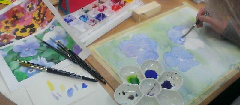 ws bloemen aquarelleren